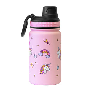 Mira Sierra Water Bottle | Spout Lid Cap - Unicorn - Rainbow