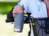 MIRA Vacuum Insulated Travel Water Bottle | Leak-proof Double Walled Stainless Steel Cola Shape Portable Water Bottle | No Sweating, Keeps Your Drink Hot & Cold | 12 Oz (350 ml) | Cool Gray