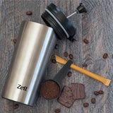 Zell Vacuum Insulated French Press Mug for Tea & Coffee | Stainless Steel Double Walled Travel Mug | Portable Coffee & Tea Maker Keeps Your Drink Hot & Cold | 12 Oz (350 ml)