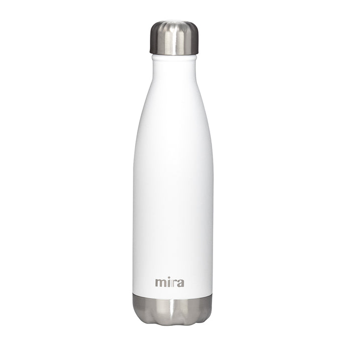 Mira Cascade Water Bottle - Solid - White