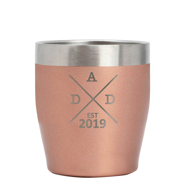 12 oz Rocks Cup - Dad Est 2019