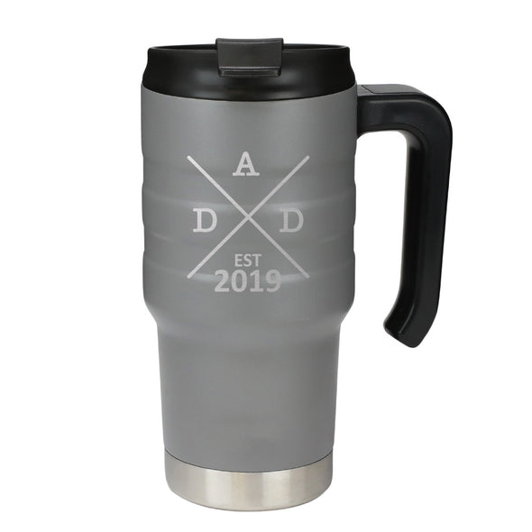20 oz Handle Mug - Dad Est 2019