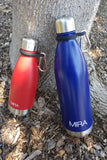 MIRA Durable Silicone Carrier with Carabiner Clip | Fits Any 12oz, 17oz and 25oz Cola Shaped Water Bottles for Outdoor Activities or Daily Use