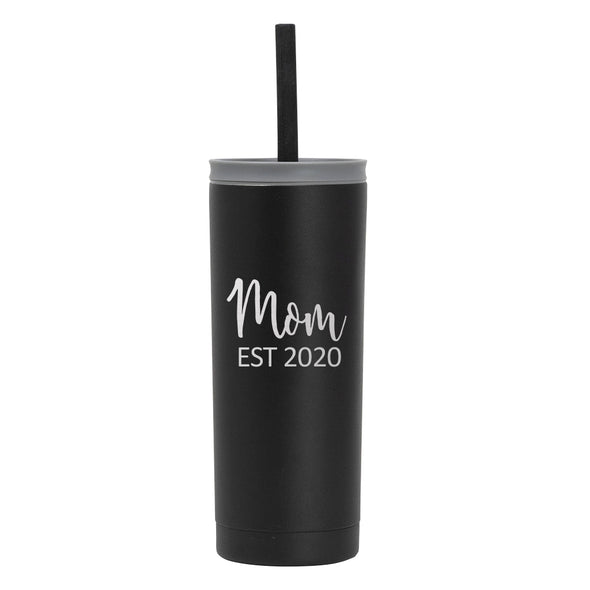 20 oz Voyager with Straw Lid - Mom Est 2020