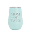 12 oz Wine Cup - Twin Mom