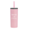 20 oz Voyager with Straw Lid - Twin Mom
