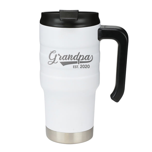 20 oz Handle Mug - Grandpa Est 2020