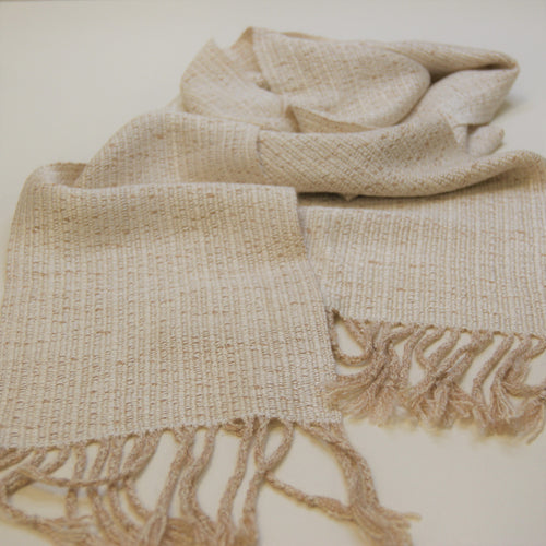 Silk and baby camel scarf