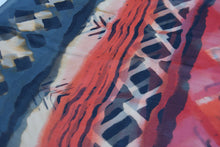 Load image into Gallery viewer, Shibori orange crinkle silk scarf
