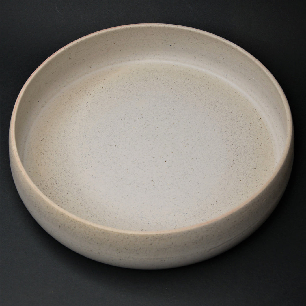 Large Bowl, W33 satin  white