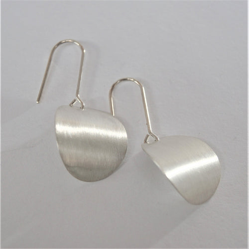 Stg curved oval earrings large