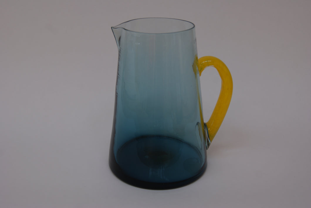 Pug Jug - Blue with Yellow Handle