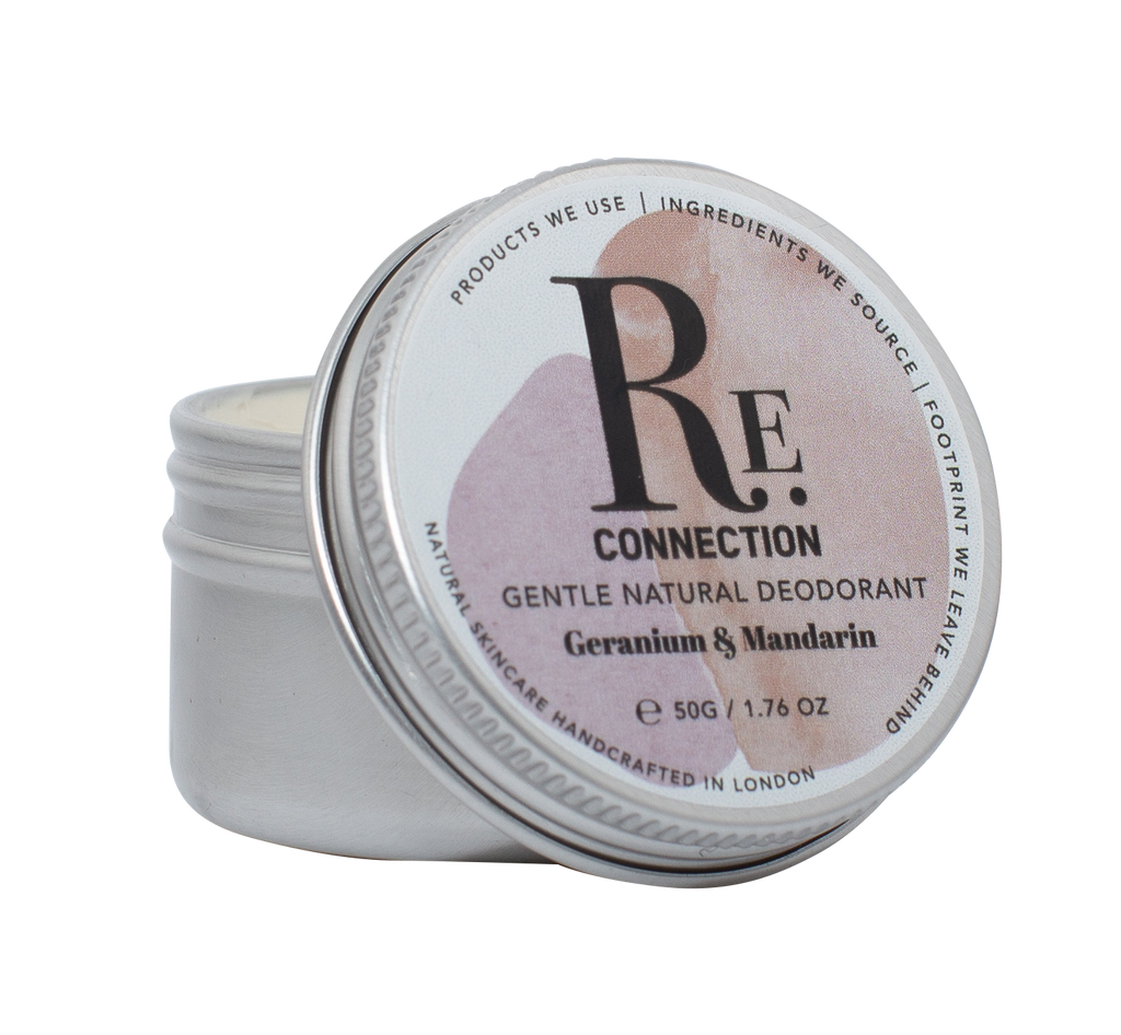 Gentle Natural Vegan Zero-waste Plastic-free Soda-free Aluminium-free Deodorant - Geranium & Mandarin - Re:connection Skincare