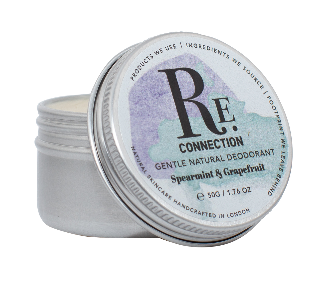 Gentle Natural Vegan Zero-waste Plastic-free Soda-free Aluminium-free Deodorant - Spearmint & Grapefruit - Re:connection Skincare