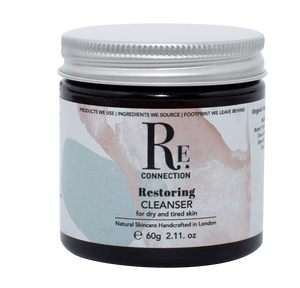 Restoring Natural Vegan Plastic-Free Facial Cleanser and Face Mask for dry, dehydrated and mature skin - Re:connection Skincare