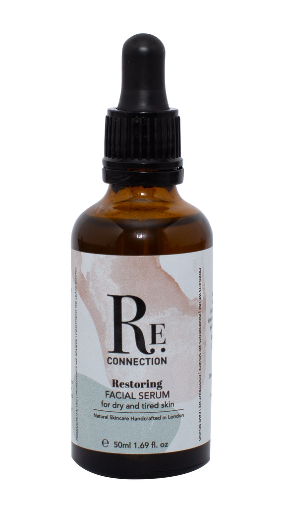 Restoring Natural Vegan Plastic-Free Facial Serum and Face Oil for dry, dehydrated and mature skin - Re:connection Skincare