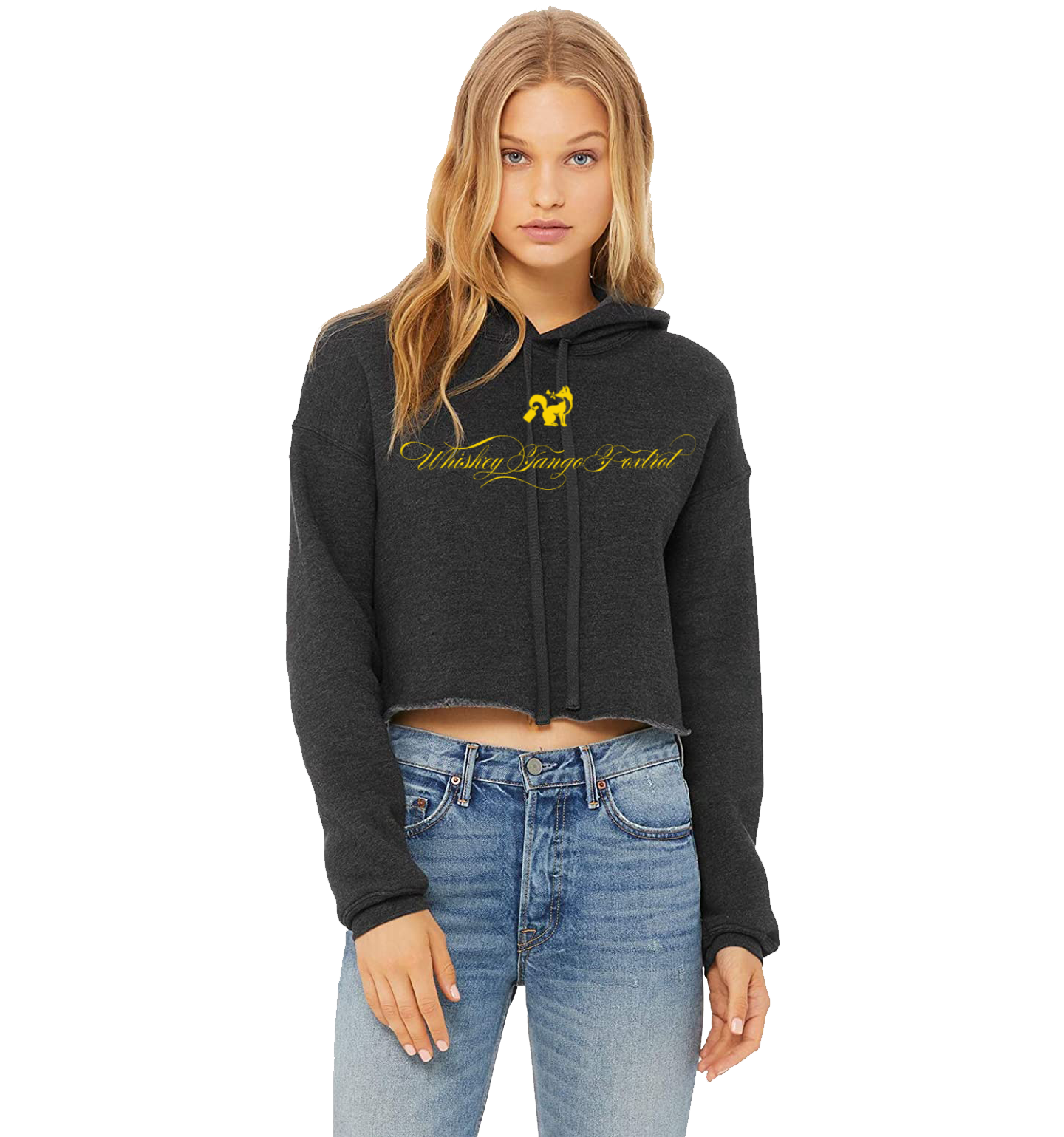WTF CROP HOODIE FANCY GOLD