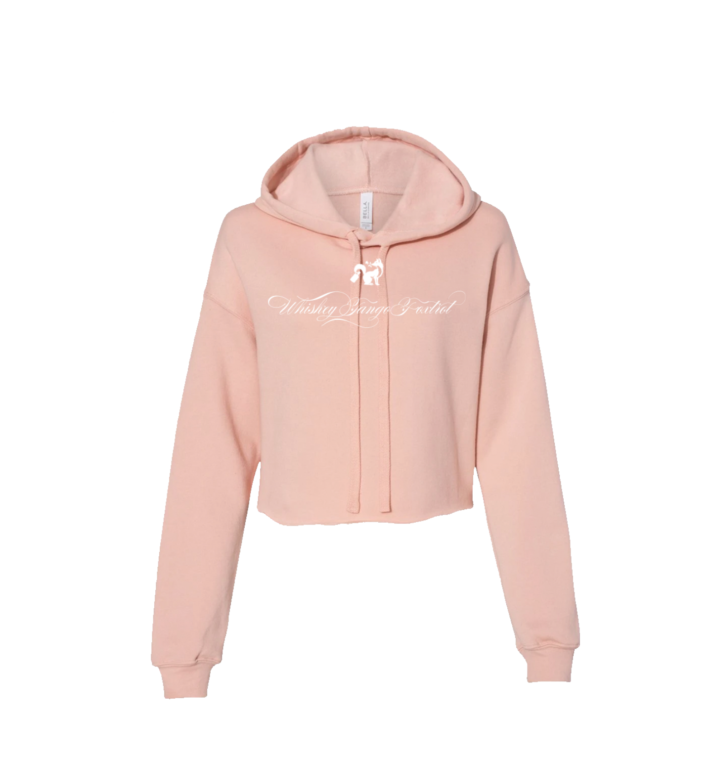 WTF CROP HOODIE FANCY WHITE