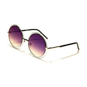 Margaux - ZunnyDāz - Round - Gold Frames + Purple Sunset Lens
