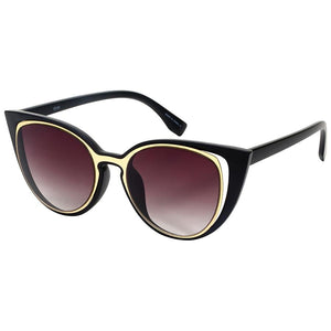 Calico - ZunnyDāz - Cat Eye - Matte Black/Gold Frames + Black Lens