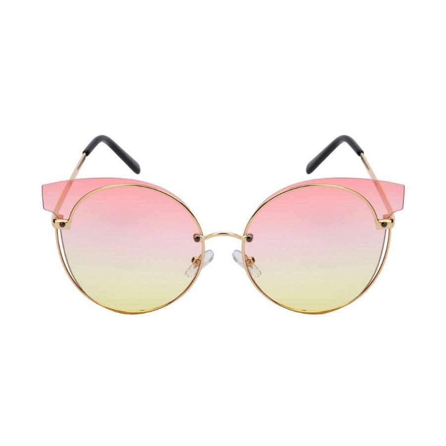 Campbell - ZunnyDāz - Cat Eye - Gold Frames + Peach Yellow Lens