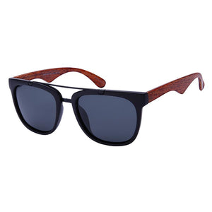 Coast - ZunnyDāz - Aviator - Black Wood/Medium Wood Temple Frames + Black Lens