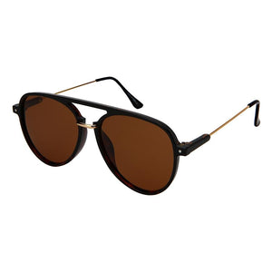 Dominix - ZunnyDāz - Aviator - Black Tortoise Frames + Brown Lens