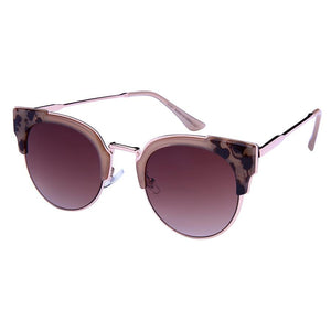 Gisele - ZunnyDāz - Cat Eye - Pink Abstract Tortoise Frames + Brown Lens