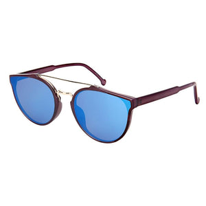 Haley - ZunnyDāz - Round - Dark Purple Frames + Blue Lens