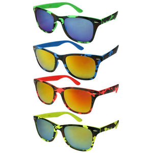 Jamaica - ZunnyDāz - New Classics - Flourescent Yellow Camo Frames + Sunset Yellow Green Lens