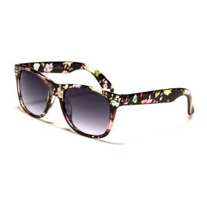 Kids Kherington - ZunnyDāz - Kids - Blue/Red Floral Frames + Black Lens