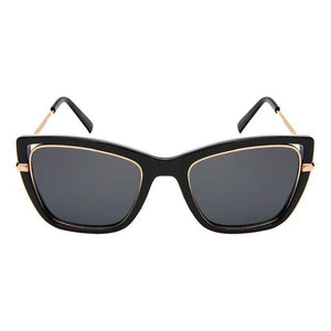 Lia - ZunnyDāz - Cat Eye - Black/Gold Frames + Black Lens