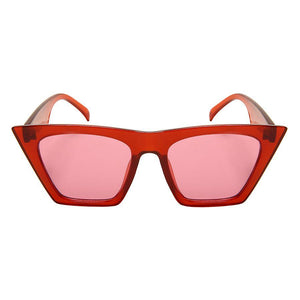 Mittens - ZunnyDāz - Cat Eye - Clear Red Frames + Red Lens