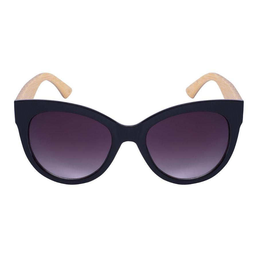 Nerys - ZunnyDāz - Cat Eye - Black/Light Bamboo Frames + Black Lens