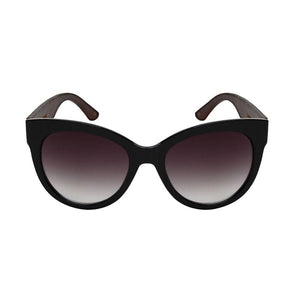 Nerys - ZunnyDāz - Cat Eye - Black/Dark Bamboo Frames + Black Lens