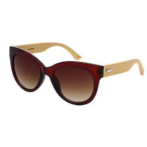 Nerys - ZunnyDāz - Cat Eye - Brown/Light Bamboo Frames + Black Lens