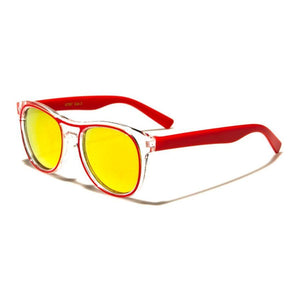 Kids Rocco - ZunnyDāz - Kids - Clear Red Frames + Yellow Lens