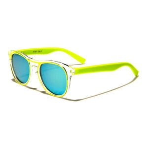 Kids Rocco - ZunnyDāz - Kids - Fluorescent Yellow Frames + Blue Lens