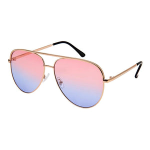Wonderland - ZunnyDāz - Aviator - Rose Gold Frames +Pink Purple Lens