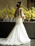 Mermaid Wedding Fantasy Collar  Lace Wedding Dress