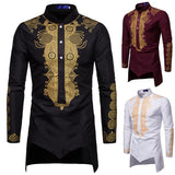 Men's Bronze Printed Robe Top