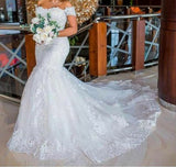 Wedding Dress 2020 New Bride Shoulder Slim Slimming Fishtail Tail Wedding Dress