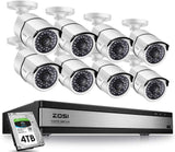 ZOSI 16 Channel 1080p Security System,16 Channel DVR 4TB (Hard Drive) Full HD 10