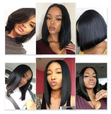 Lace Front wigs Straight 4×4 Lace Short Bob Wigs Brazilian Human Hair