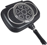 Double-sided Portable BBQ Grill Pan Non-Stick Coating