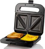 Electric Breakfast Sandwich Grill Maker Nonstick Cast Iron Toaster Plates