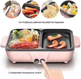 2 in 1 Portable Electric Cooking Pot