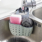 Kitchen Sink Caddy Sponge Soap Holder Drain Rack Double Decker Hanging Basket Storage Suction Cup Organizer