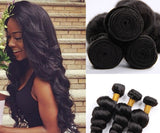 Women's Real Human Hair Extension Loose Wave