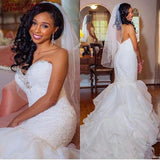 Mermaid Lace Strapless Wedding Dress